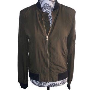 Zara Basic Outerwear Army Green bomber jacket - XS